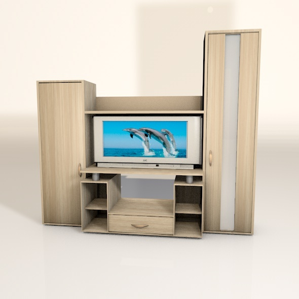 3D Closet with TV - 3DOcean Item for Sale