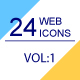 24 Web & Marketing thin line icons Volume 1