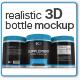 Realistic 3D Bottle Mock-Up