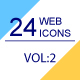 24 Web & Marketing thin line icons Volume 2