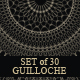 Set of 30 Guilloche