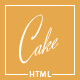 Cake - Easy & Slight Bakery HTML5 Template