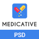 Medicative - Medical & Health PSD Template