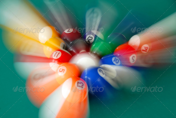 Billiards balls - Stock Photo - Images