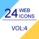 24 Web & Marketing thin line icons Volume 4