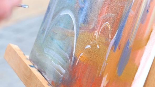 Download Painting It With Watercolors On Canvas nulled download