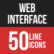 Web Interface Filled Line Icons