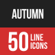 Autumn Filled Line Icons