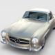 Mercedes 190SL with Interior Hard Top rev