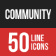 Community Filled Line Icons