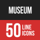 Museum Filled Line Icons