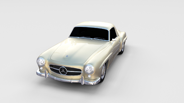 Mercedes 190SL Hard Top rev - 3DOcean Item for Sale