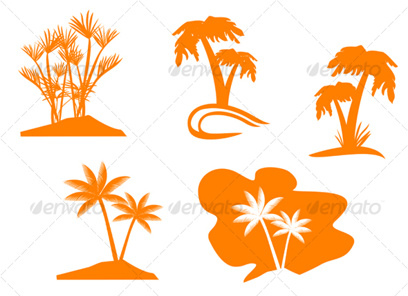 GraphicRiver Set of palm trees 69478