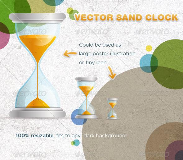 GraphicRiver Vector Sand Clock Illustration 210074