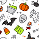 Set Halloween Patterns