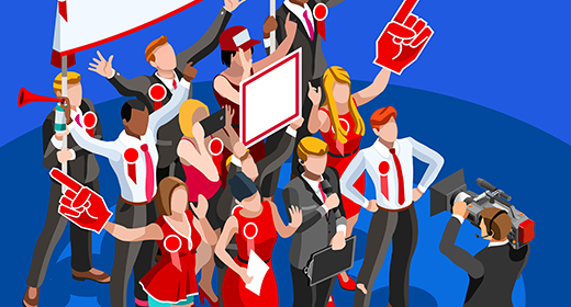 Politics Election Party Isometric People