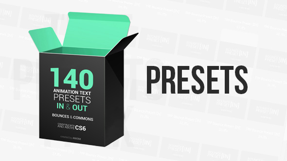 VideoHive Text Presets Pack 18010976
