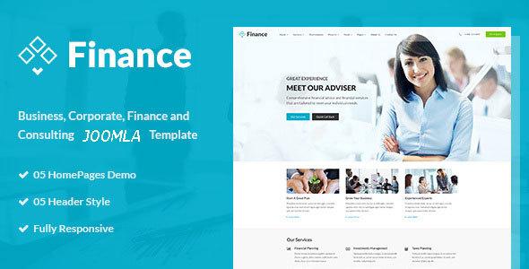 Finance - Business & Financial JOOMLA Template