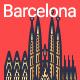 Line Flat Barcelona Banner