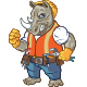 Angry Construction Worker Rhino