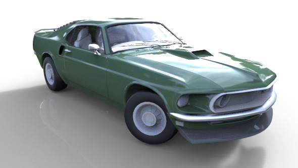 1969 Ford Mustang Mach 1 - 3DOcean Item for Sale