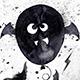 Poster Halloween Bat Balloons