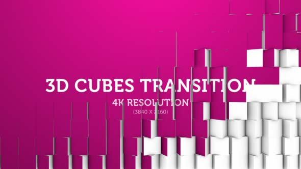 Download 3D Cubes Transition 09 - 4K nulled download