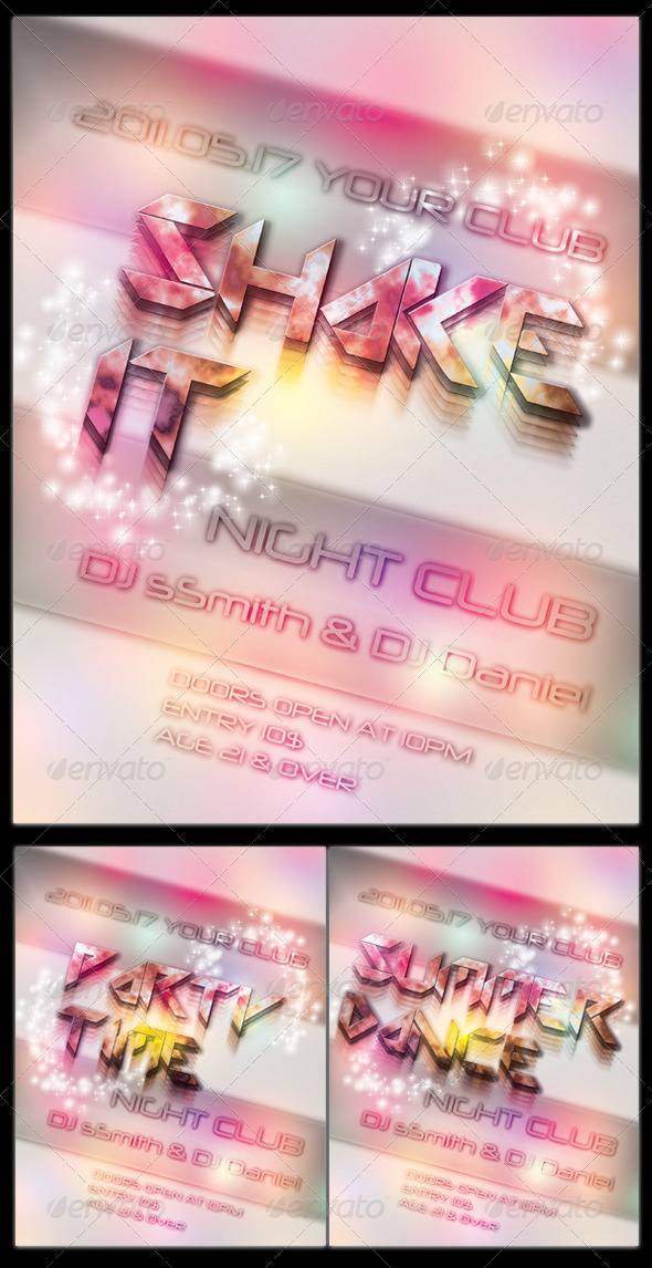 GraphicRiver 'Shake It Party Flyer Template 210122
