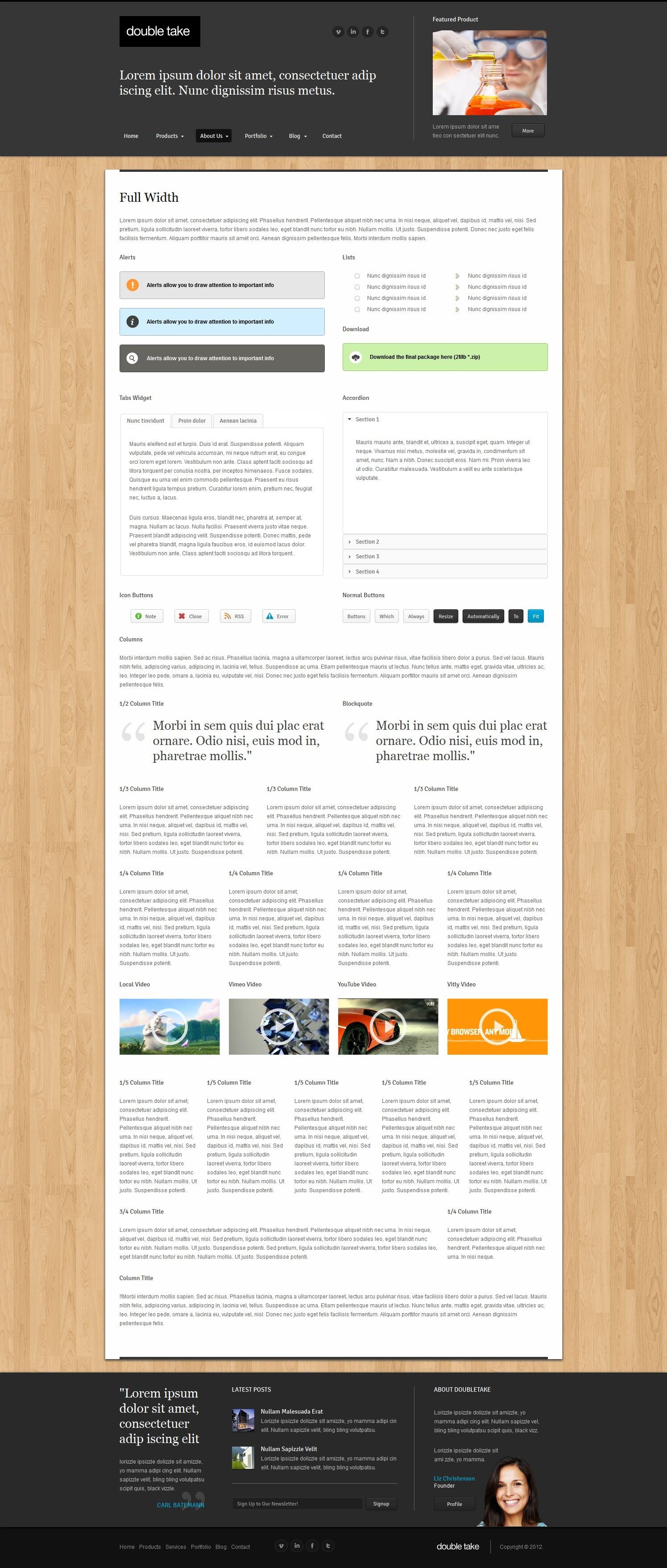 Doubletake Ajax HTML5 Portfolio Business Template