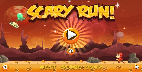 Scary Run - HTML5 Game + Android + AdMob (Capx)