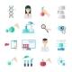Biotechnology Flat Icons Set