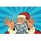Santa Claus Pop Art Retro Illustration