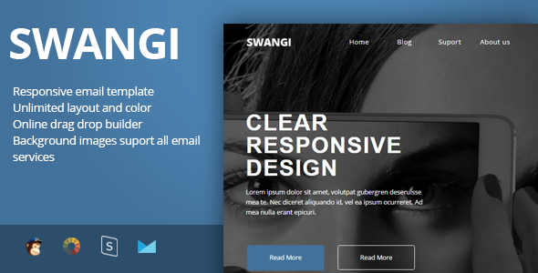 Image of SWANGI - Best Multipurpose Responsive Email Template + Stampready Builder