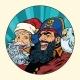 Santa and Pirate