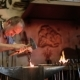 Blacksmith Forges On The Anvil, The Hot Metal