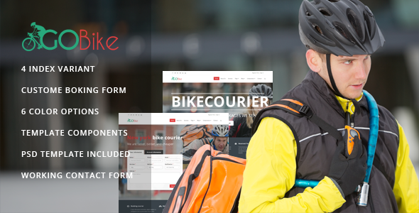 Gobike - Bike courier responsive html5 template