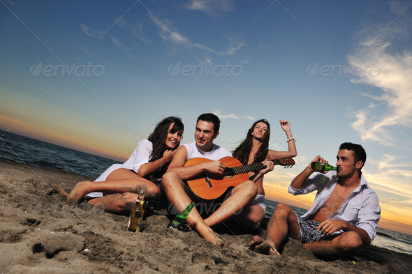 beach party - Stock Photo - Images