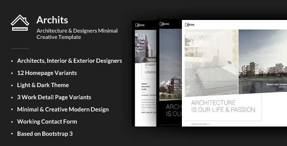 Archits - Responsive Architecture Template