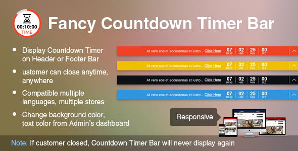Prestashop Fancy Countdown Timer Bar Module
