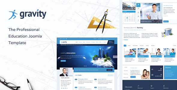 Gravity - Education, School Timetable & Events Joomla Template