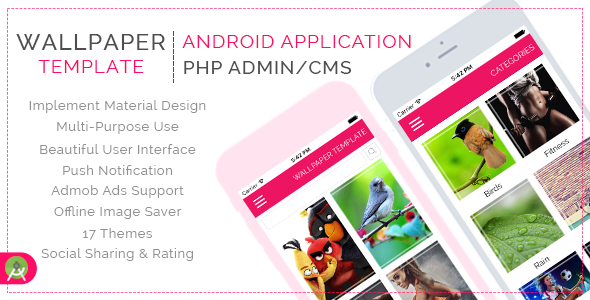 Multi Purpose Wallpaper Template for Android with PHP CMS Admin Panel (Templates) Download