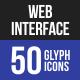 Web Interface Glyph Icons