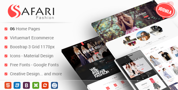 Themeforest Safari - Responsive Multipurpose Virtuemart Joomla Template 18028055