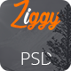 Ziggy - Landing Page PSD Template