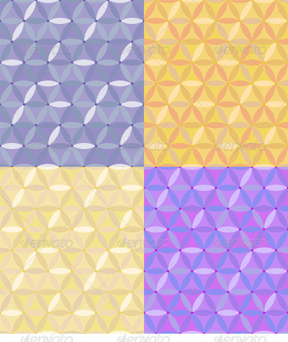 Vector Seamless Geometric Pattern of Hexagons - Patterns Decorative