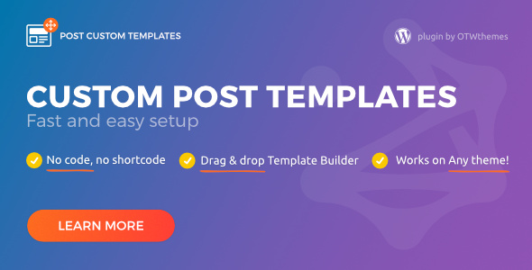 Post Custom Templates Pro – WordPress plugin