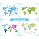 Social Network. Various Shapes Sparkling