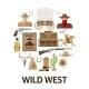 Wild West Round Composition