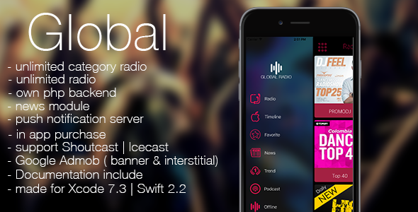 Global - radio, news, podcast + backend