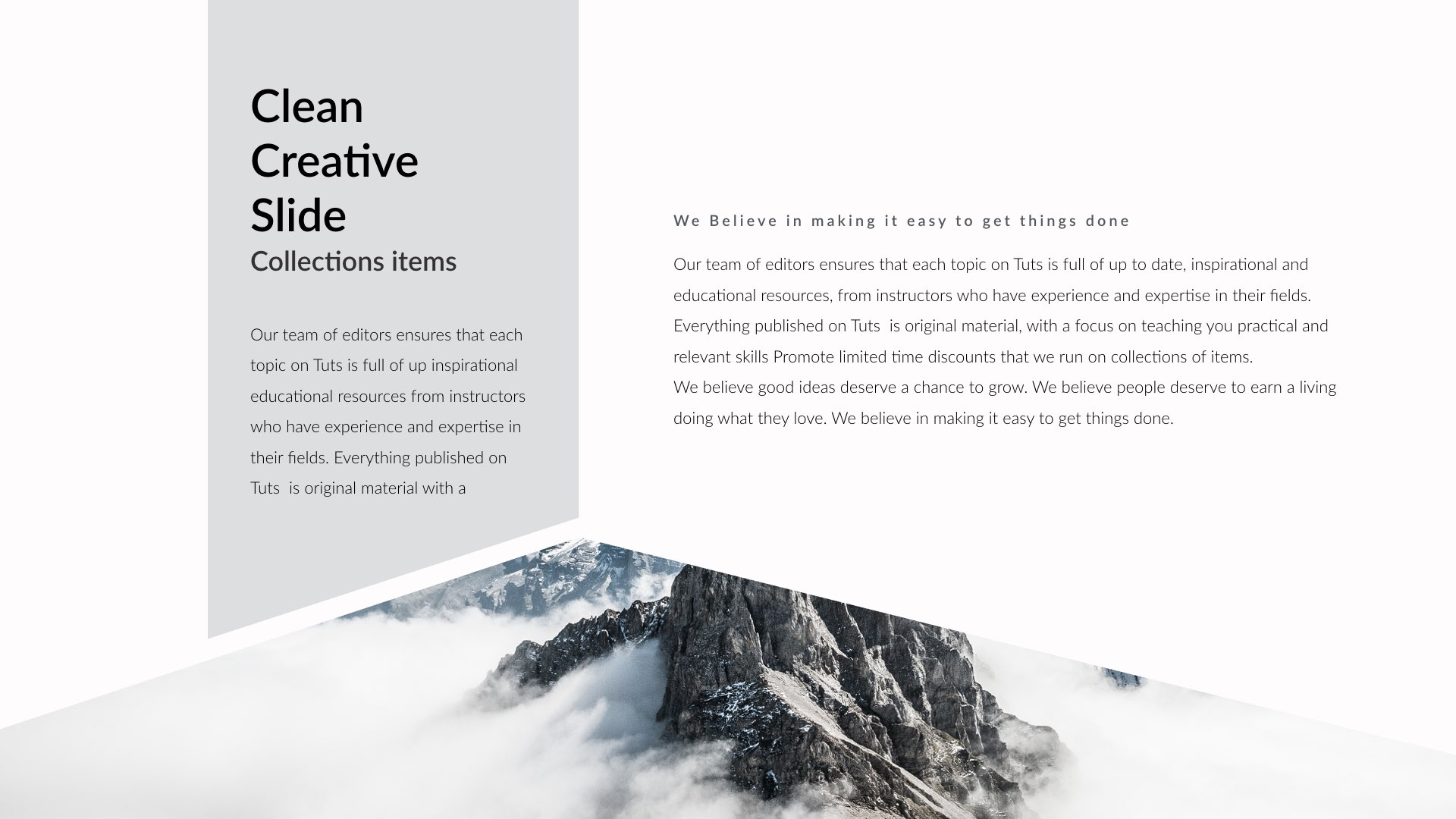 diagonal clean creative powerpoint presentation by yue diagonal clean creative powerpoint presentation